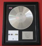 GENESIS - Turn It On Again - The Hits CD / PLATINUM PRESENTATION Disc